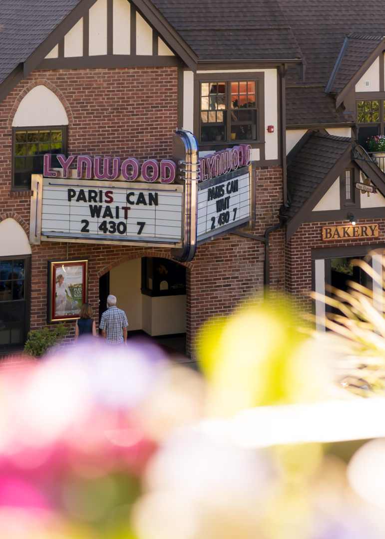 A view of the Lynwood Theater ~view from the Manor House patio