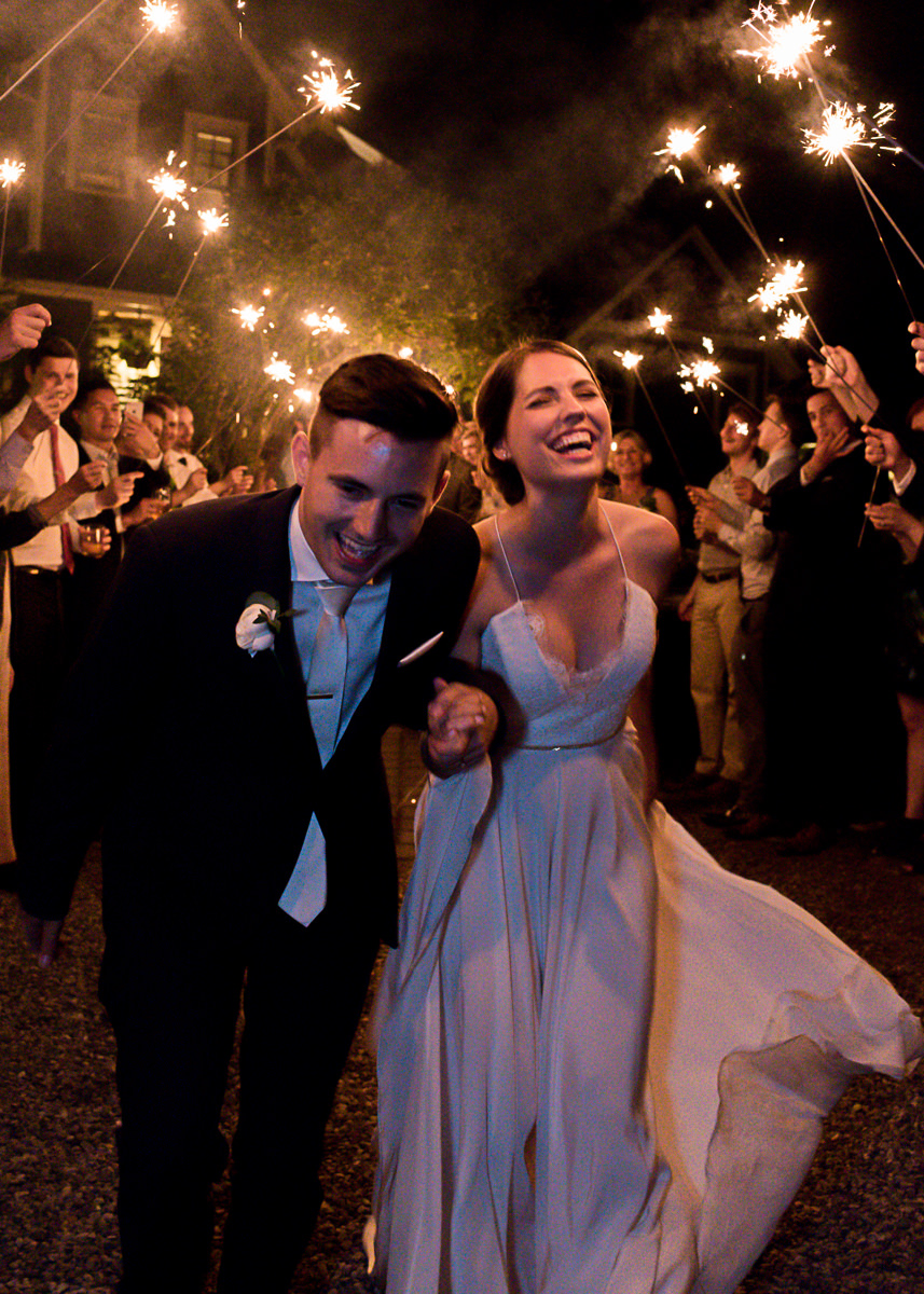 Weddings in Woodinville Departure Farewell Sparklers Night Bride Groom Bellevue.jpg