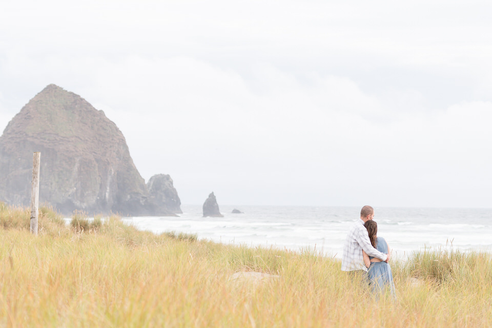 Cannon Beach Haystack Rock Engagement Session