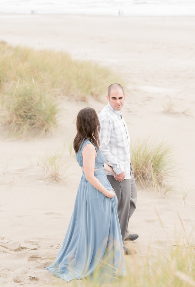 Haystack Rock Beach Formal Engagement Session