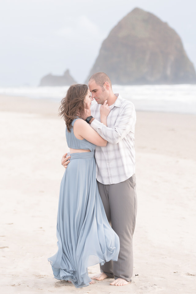 Cannon Beach couples beach engagement session