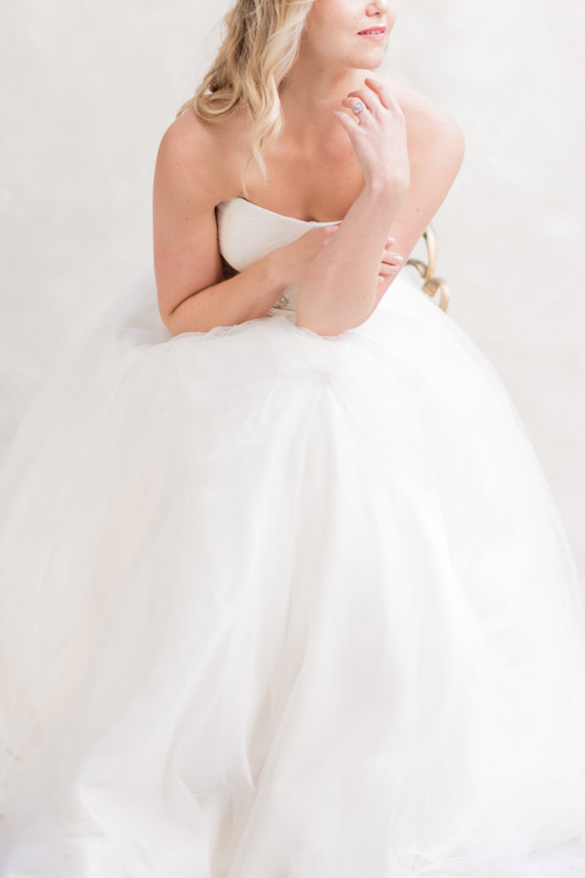 Weddings in Woodinville bridal portraits half updo blond tulle strapless dress light airy Christina Servin Photographs-3.jpg