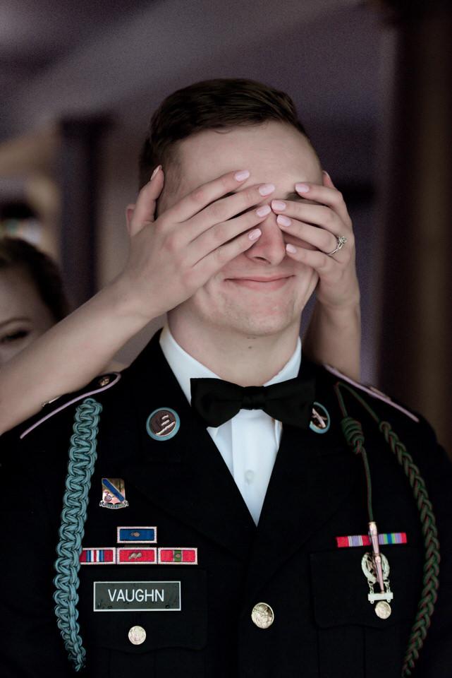 bride suprising groom before first look hands over eyes Seattle cservinphotographs.jpg