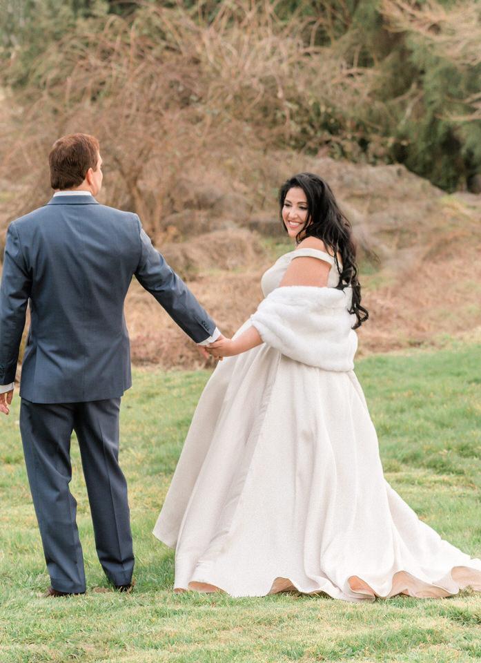 Couples Wedding Portraits Winter Silk Gown White Fur Wrap Seattle Christina Servin Photographs Film-1.jpg