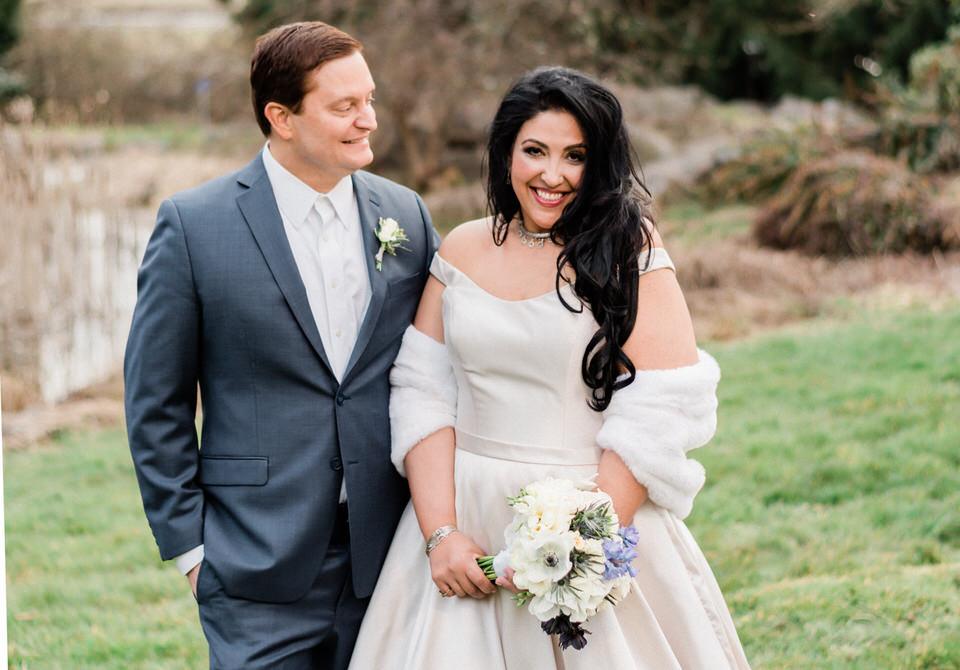Spring Seattle wedding silk gown white fur wrap navy suit CServinPhotographs-1.jpg
