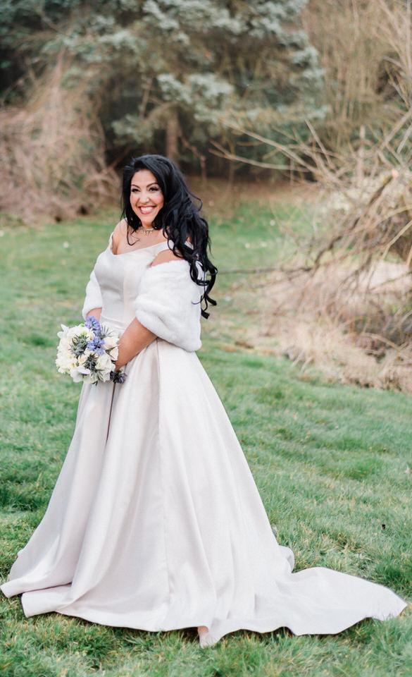 Spring Seattle wedding silk gown white fur wrap navy suit CServinPhotographs-8.jpg