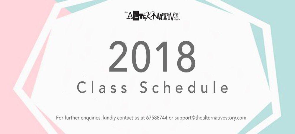 TAS 2018 Class Schedule