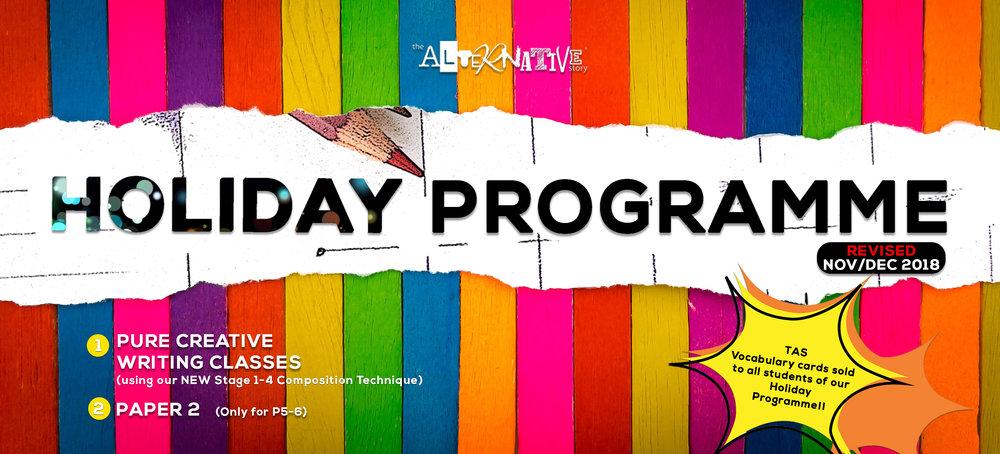 Holiday Programme (Nov/Dec 2018)