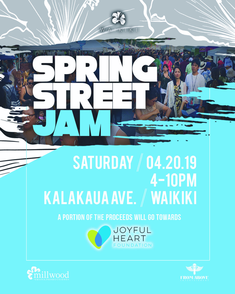 Join us as we shut down Kalakaua Avenue for our Waikiki Block Festivals! Enjoy ono food, shopping, handmade arts & crafts, and rides from local vendors. Come and support our local businesses! Admission to all of our block festivals is FREE to the public and perfect for the whole family! As always, a portion of our festivals will go towards local nonprofit organizations.  Source:  https://www.millwoodohanaproductions.com/