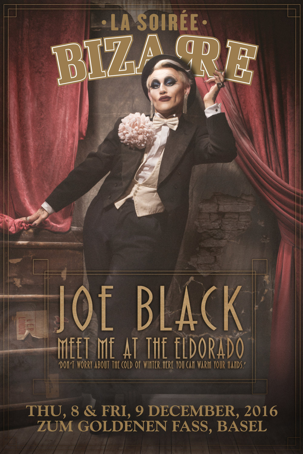 JOE BLACK IN BASEL CABARET BIZARRE
