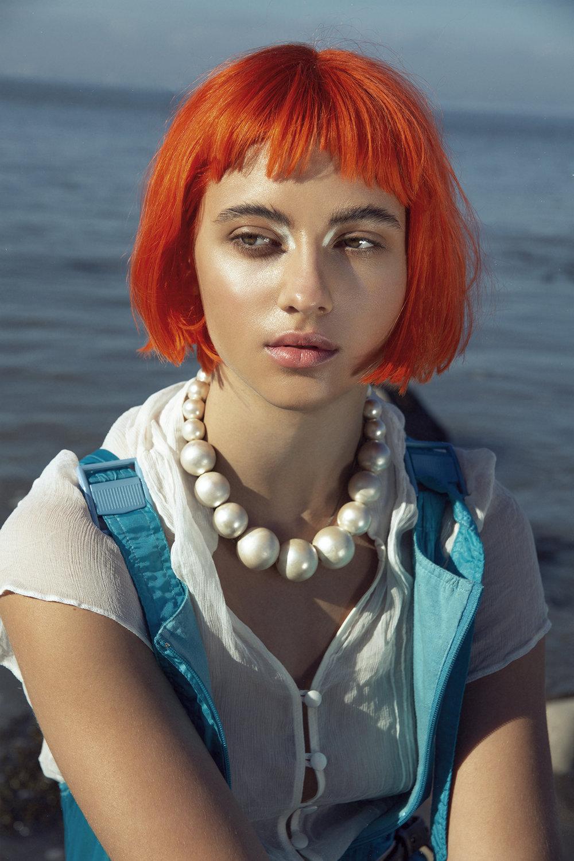 HUF Magazine Photographer/retoucher/stylist: Egle Vasi Makeup: Lisa Caldognetto using Sisley Model: Leony Jessup