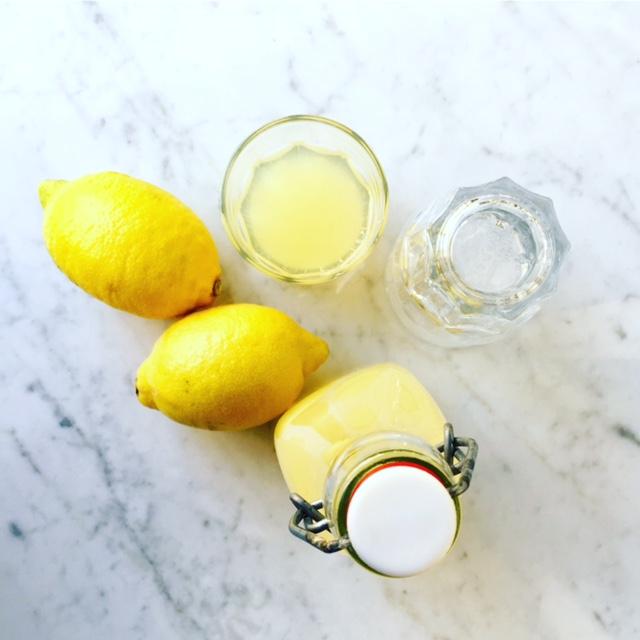 Limoncello - lemons and glass