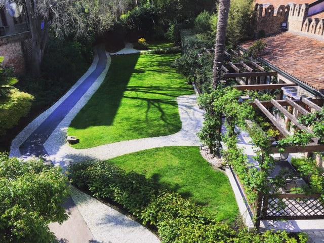Garden from above - Grand Hotel  Boscolo Venezia.JPG
