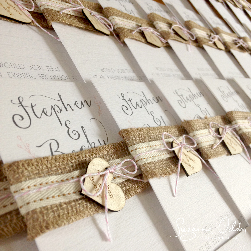 Suzanne Oddy Rustic wedding stationery suite