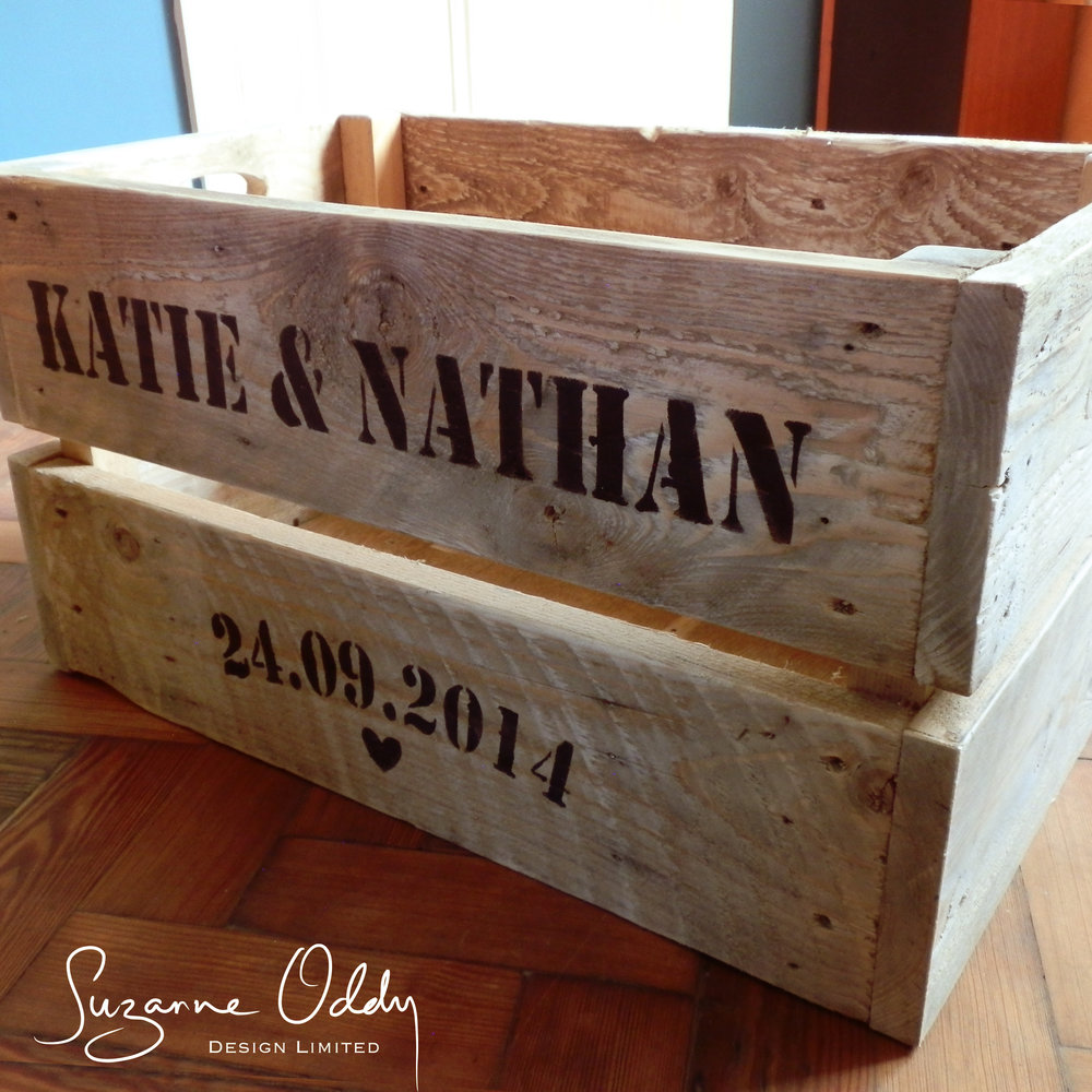 Giant chunky wooden crate