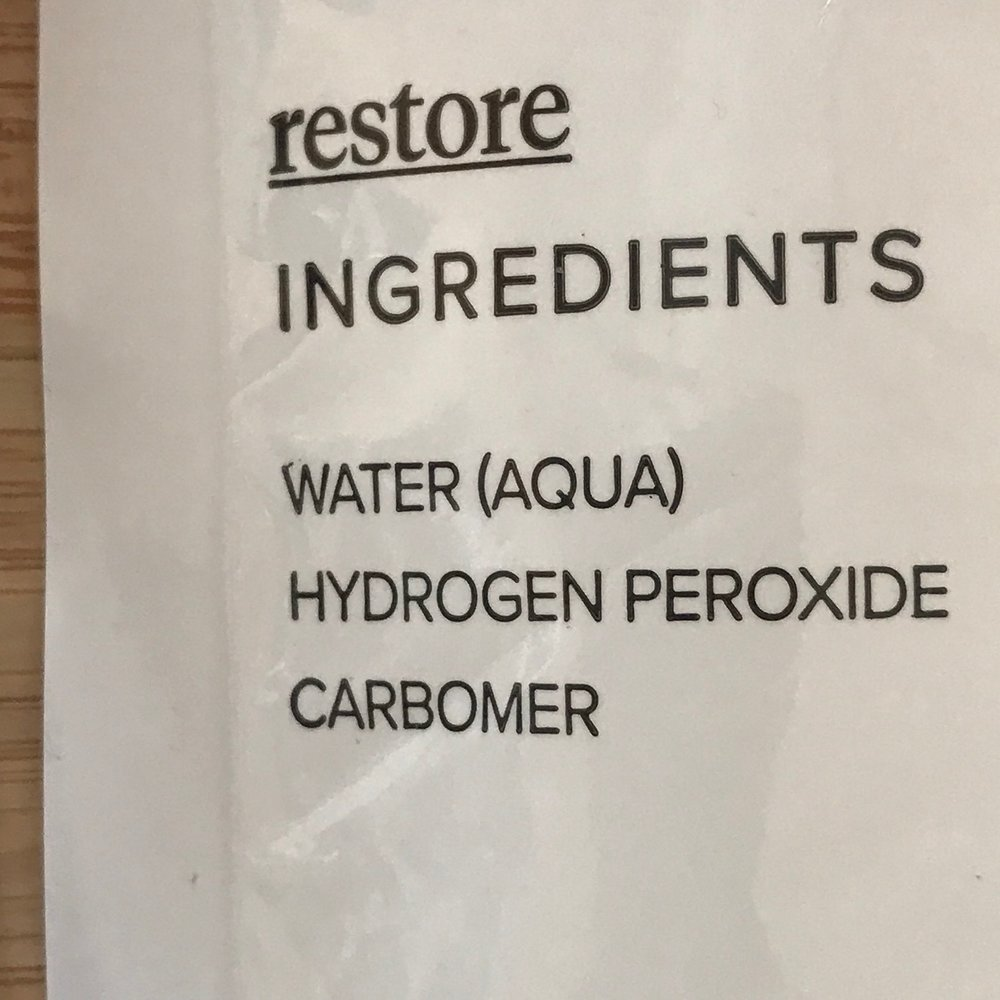 INGREDIENTS RESTORE LIQUID