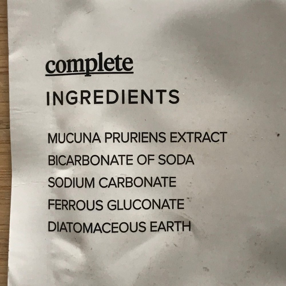 INGREDIENTS COMPLETE POWDER