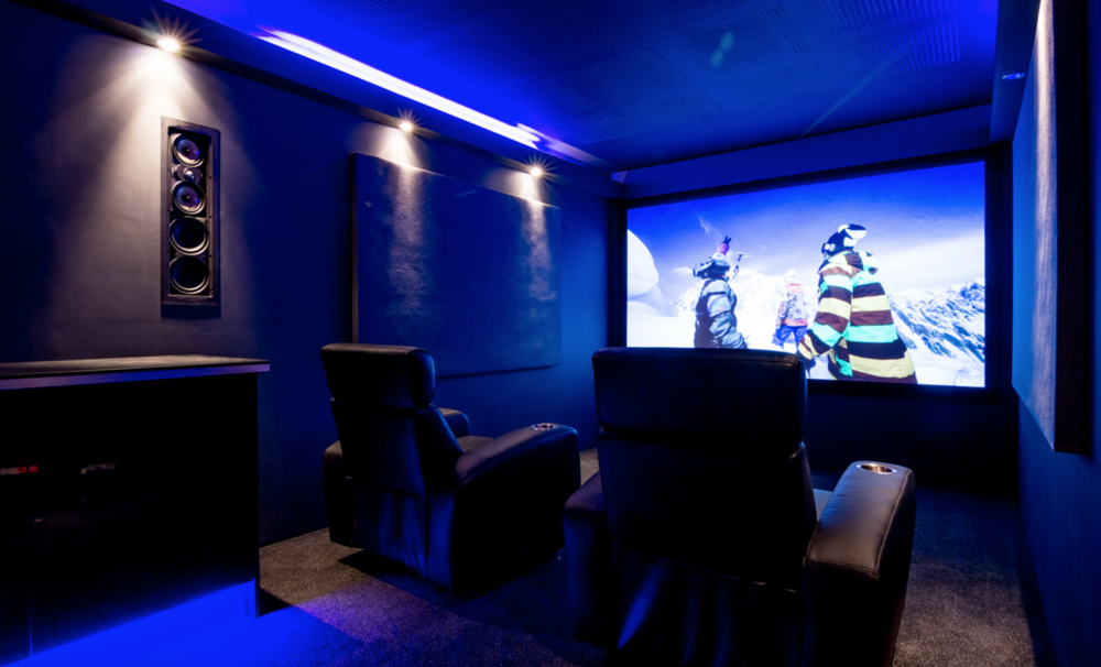 The home cinema demo room in our Winchester showroom