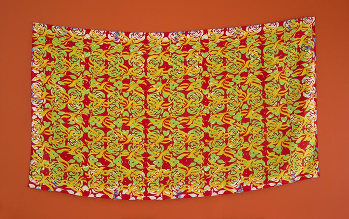 Idea Nr 17.  Digital print on silk, 81x135cm, 2015