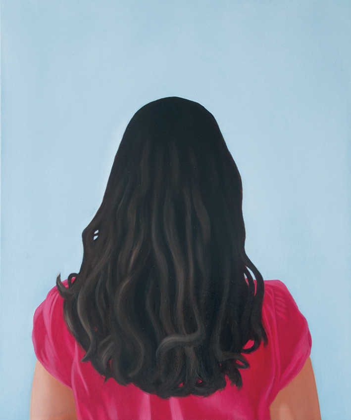 Self-portrait, oil painting on wood, 50x60cm, 2013