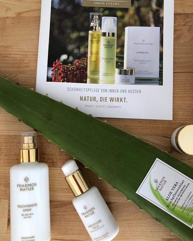 @pharmosnatur green luxury - the power of rejuvenating and regenerating plants. Fresh #aloevera delivers deep moisture to your skin. The aging process slow down with pure nature. #antiaging #cleancosmetics #bio #vegan #natural