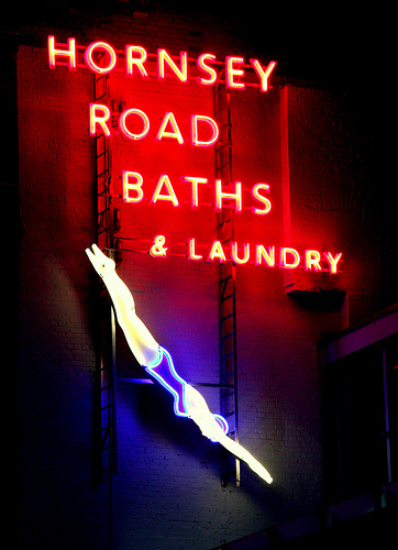 hornsey road baths by night