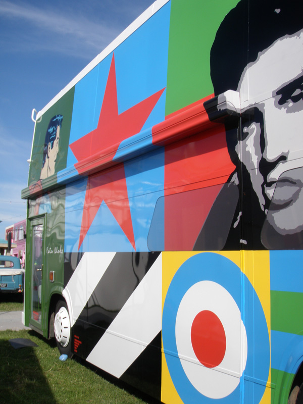 Peter Blake bus at Vintage Goodwood