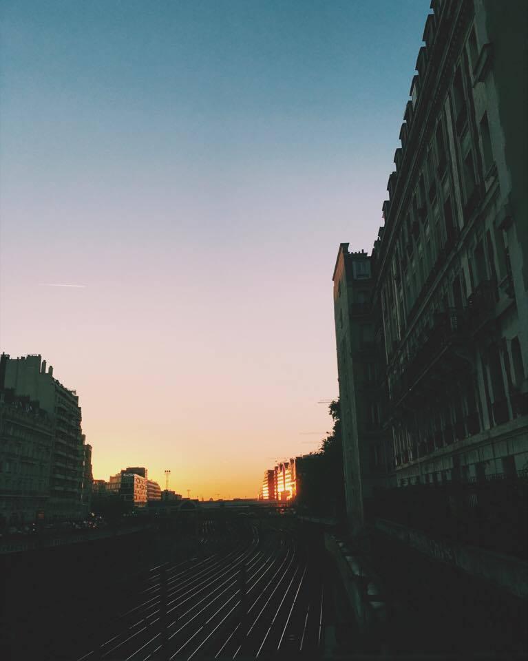 Sunset in Batignolles, Paris 17