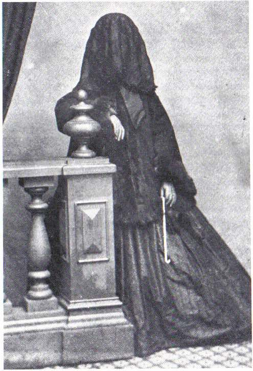 Mrs. Howes in deep mourning, c. 1860s