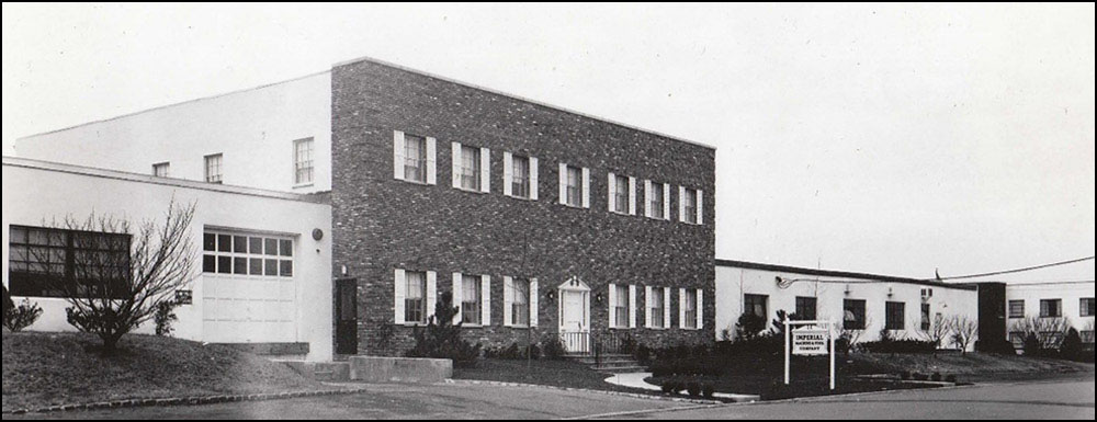 Imperial's first expansion, a state of the art facility built in Cedar Grove NJ.  Photo: 1965.