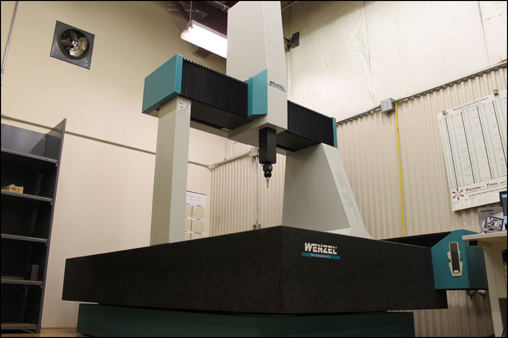 Our Wenzel LH108, with an effective measuring range of 1,000mm x 2,000mm x 800mm