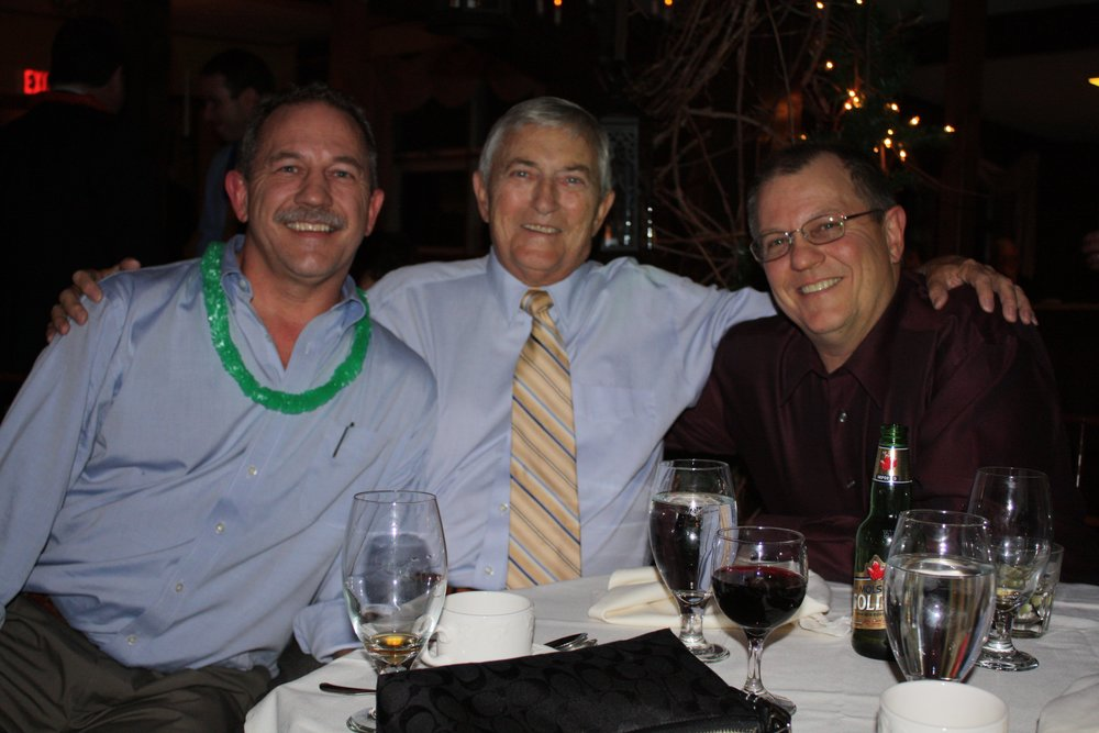 George H. Joest (center) with sons Christian and George, 2008