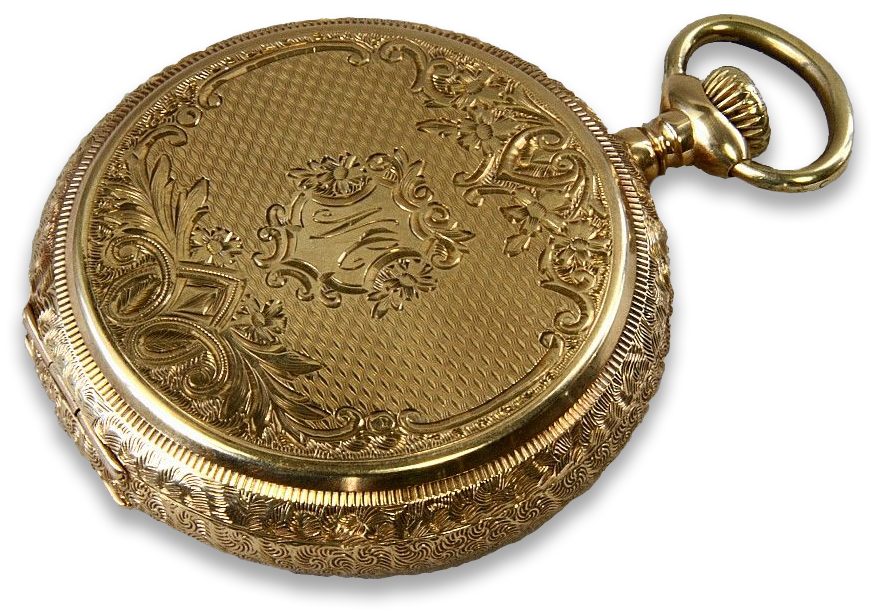 Cases were commonly made from 14k gold