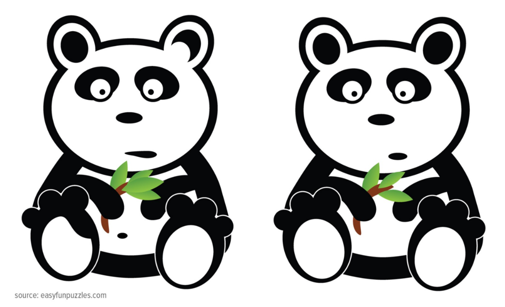 Can you spot the difference between these two pandas images?