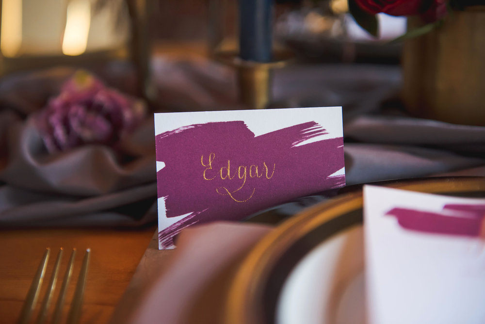 Paper by  Alisa Bobzien , Calligraphy by  M.B. Calligraphy , Rentals by  Event Theory
