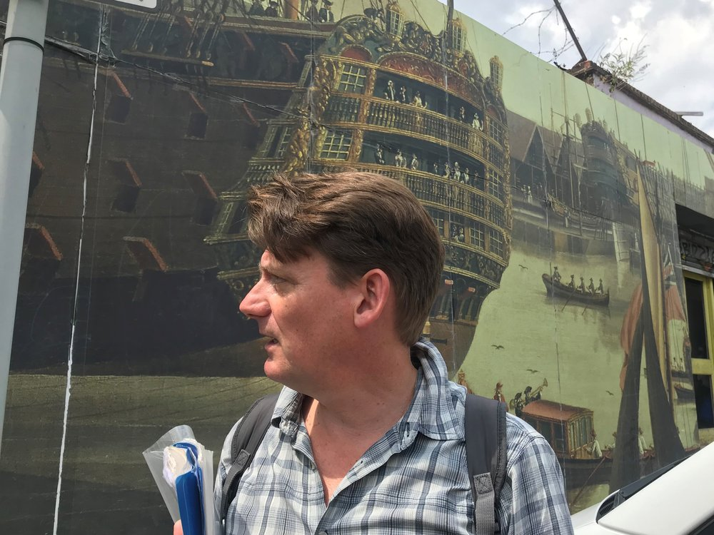 Sean and the Royal George Mural