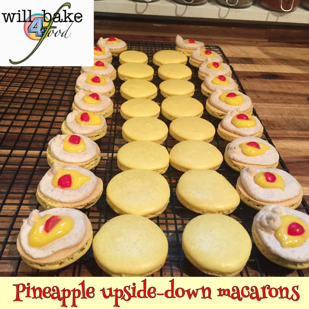 Our Pineapple curd is directly under the cherries in these DELICIOUS macarons!