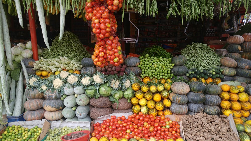 Colour at the market