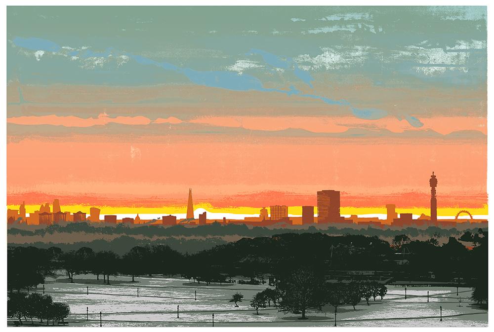 Primrose Hill February 2017 Sunrise by Emma Reynolds