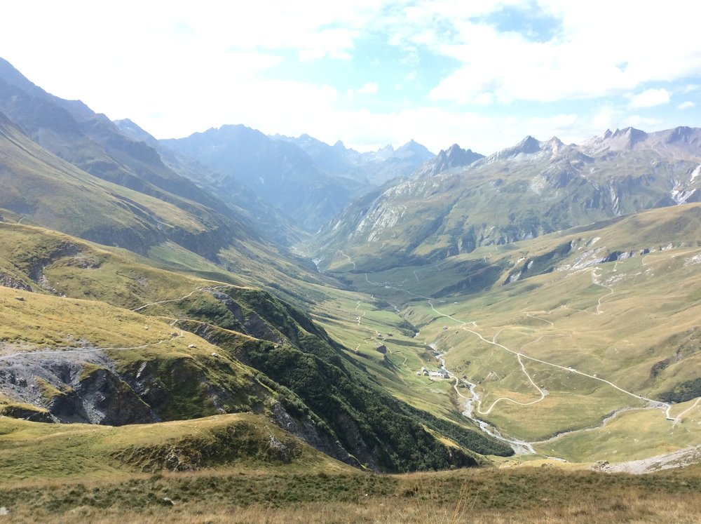 Looking back down the valley from Les Chapieux