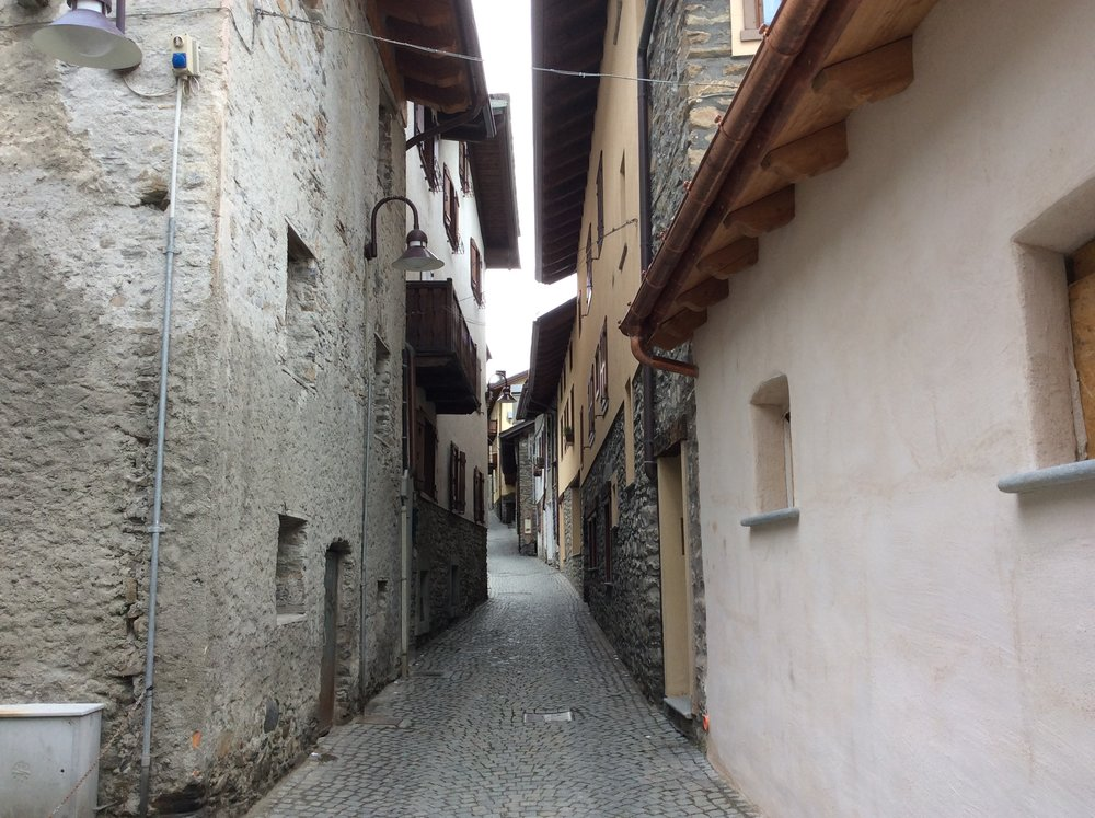 Winding streets of Courmayeur