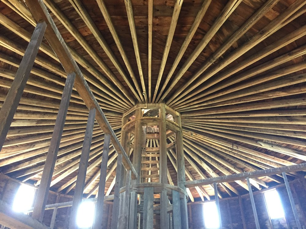 ceiling of round barn