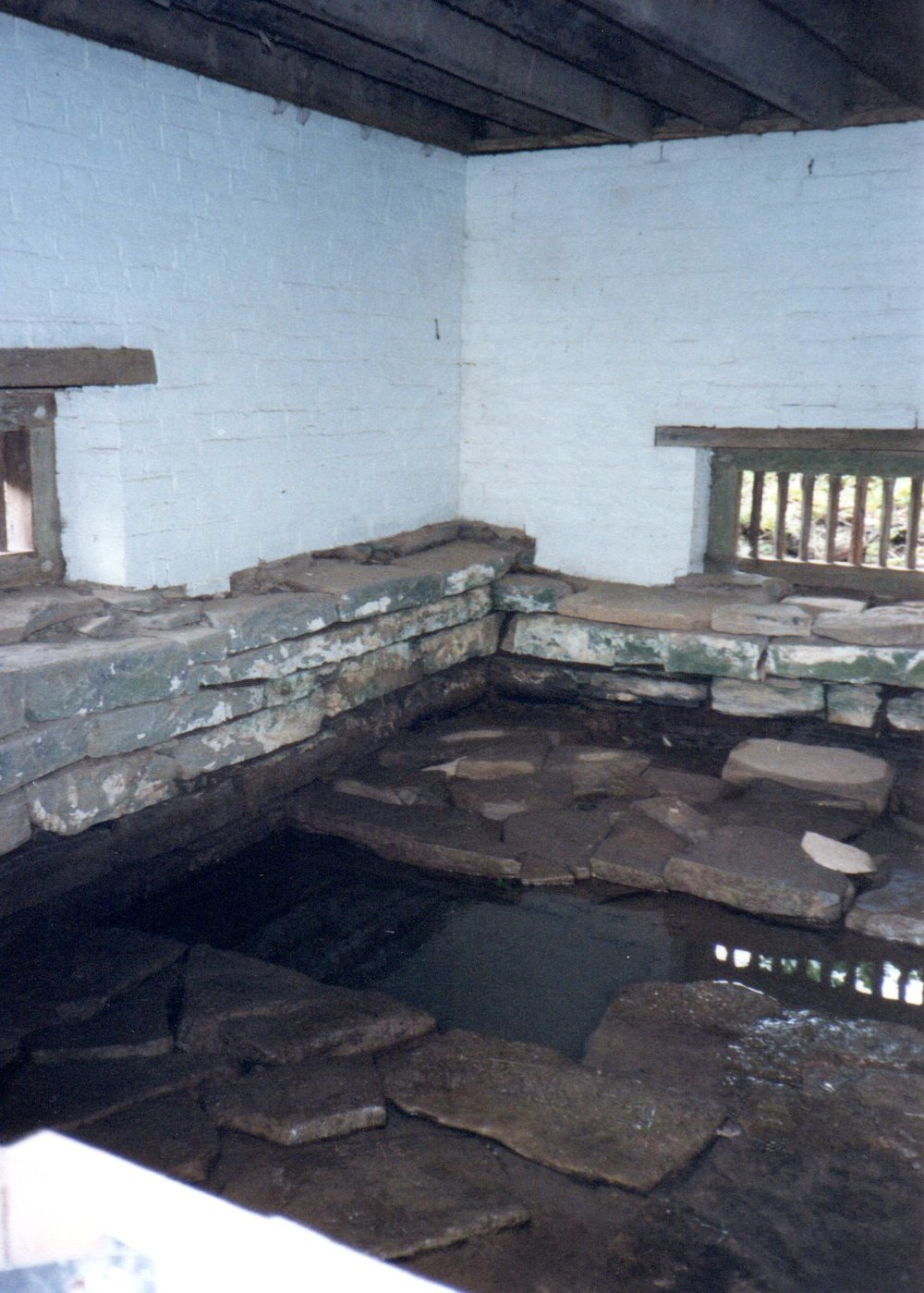 Springhouse interior, 1989