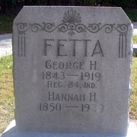 Pvt. George Fetta, Co. I, 84th IN Infantry, USA