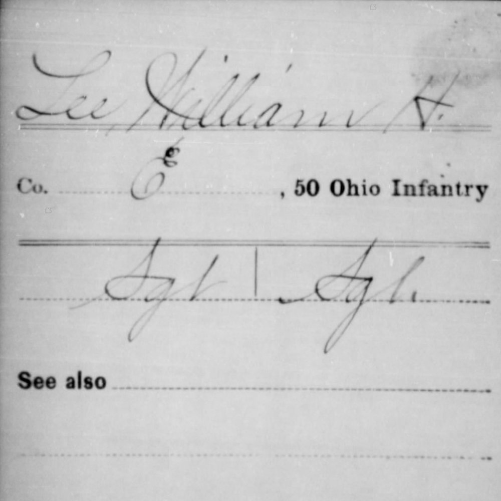 Sgt. William Lee, Co. E, 50th OH Infantry, USA