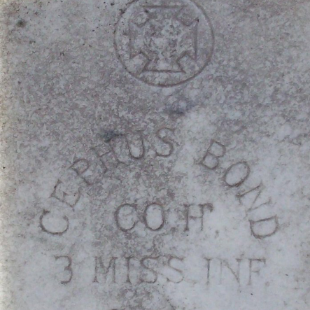 Pvt. Josephus Bond, Co. H, 3rd MS Infantry, CSA