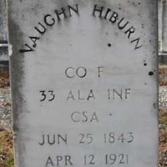 Pvt. Vaughn Hilburn, Co. E, 33rd AL Infantry, CSA
