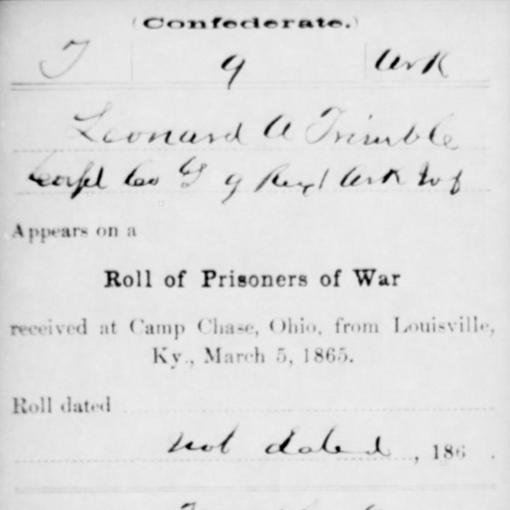 Cpl. Leonard Trimble, Co. G, 9th AR Infantry, CSA