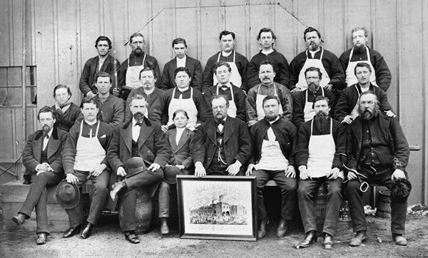 Employees of Schlather Brewing Company