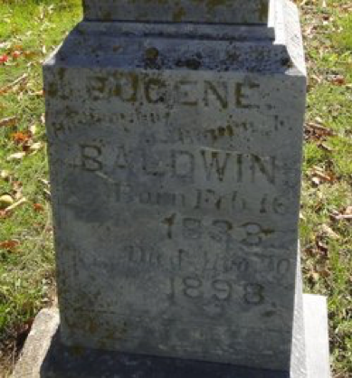 Lt. Eugenus Baldwin, Co. C, 6th MO Infantry, CSA